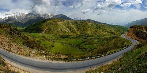 Панорамный вид на горы в Армении
