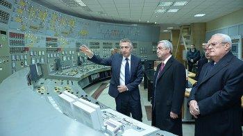 Президент Армении Серж Саргсян ознакомился с ходом работ по модернизации Армянской АЭС