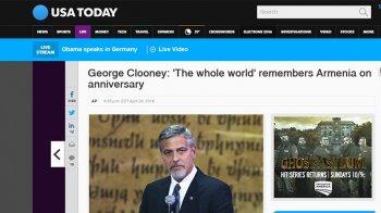 «Гитлер сказал: кто сегодня помнит армян? Вот ответ – весь мир» - Клуни