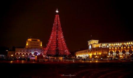 Новогодняя ёлка в Ереване, Армения