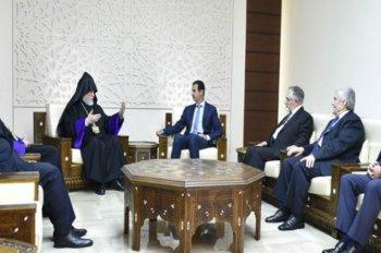Армянский Католикос поздравил Асада с освобождением Алеппо
