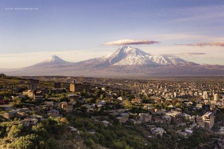 Город Ереван и Гора Арарат