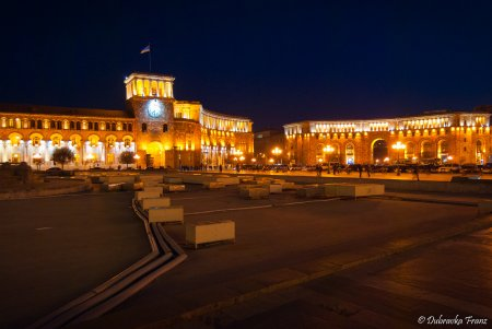 Yerevan by night, Armenia
